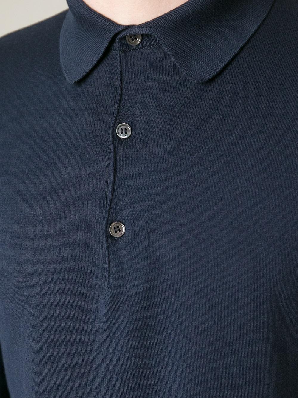 cbd2db04c01d Image 1 of 6. New John Smedley Blue Exeter Polo Shirt ...