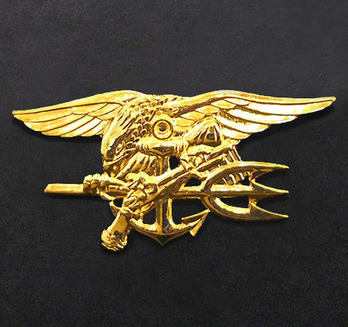 3 Pc Navy SEAL Team Trident Badge Pins - Full Size | Property Room