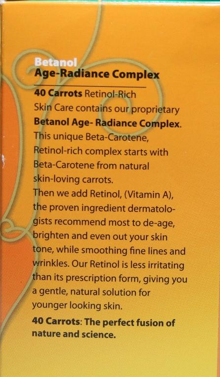40 carrots retinol rich skin care carrot acai sleep cream
