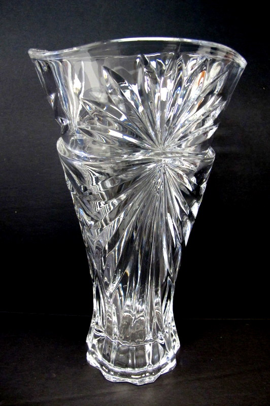 Bohemian Crystal Flower Vase Property Room