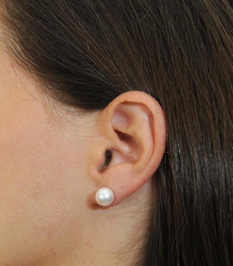 Christmas New Akoya 6mm Pearl Earrings 14kt Gold Backing Retail 189 00