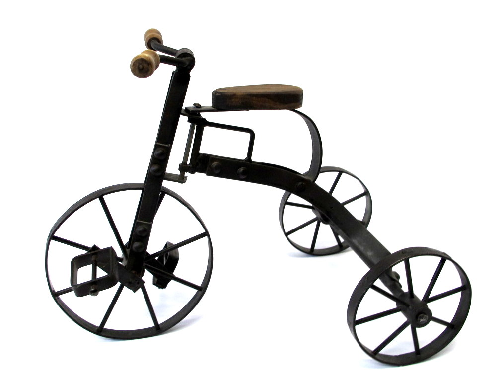 decorative metal tricycle circa 1970 s property room 1970 Decorating Trends decorative metal tricycle circa 1970 s