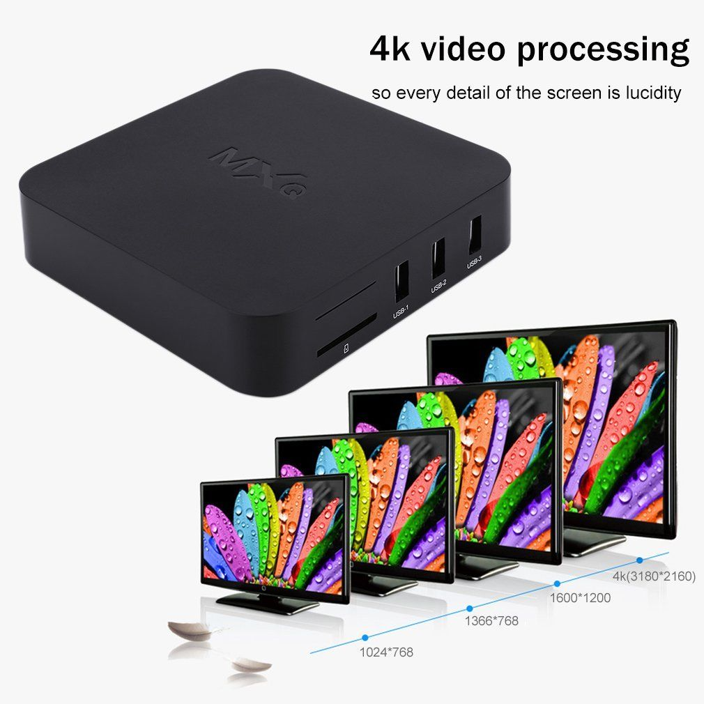 MXQ Android 4 4 Quad Core S805 4K H 264 TV BOX Media WIFI