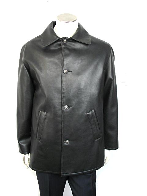 Men S Alta V Moda Made In Italy Black Leather Jacket