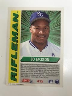 Bo Jackson 1990 Donruss Diamond Kings No 1: Excellent