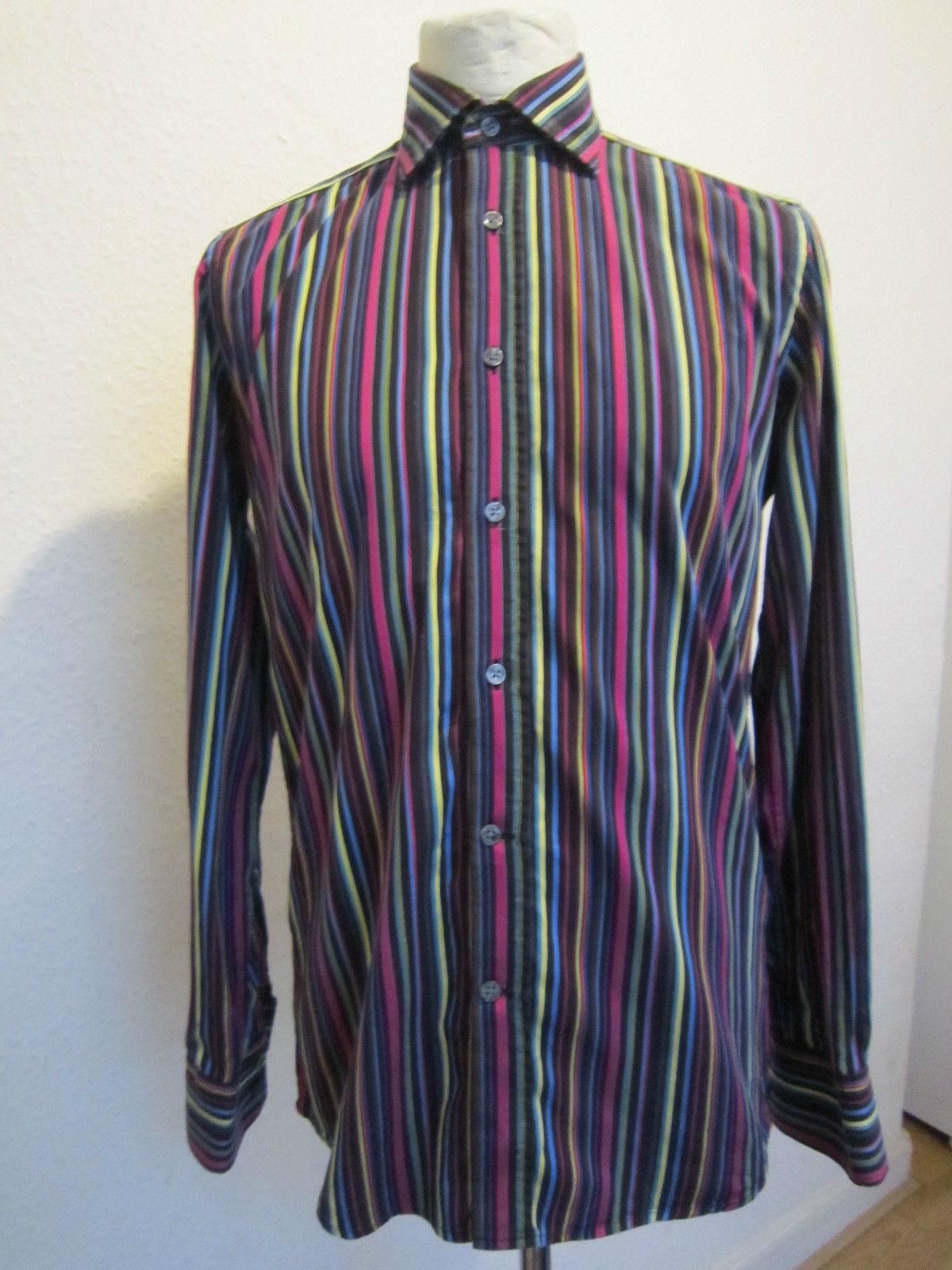 Ass Ic duchamp assic stripe tailored fit dress shirt, 16.5