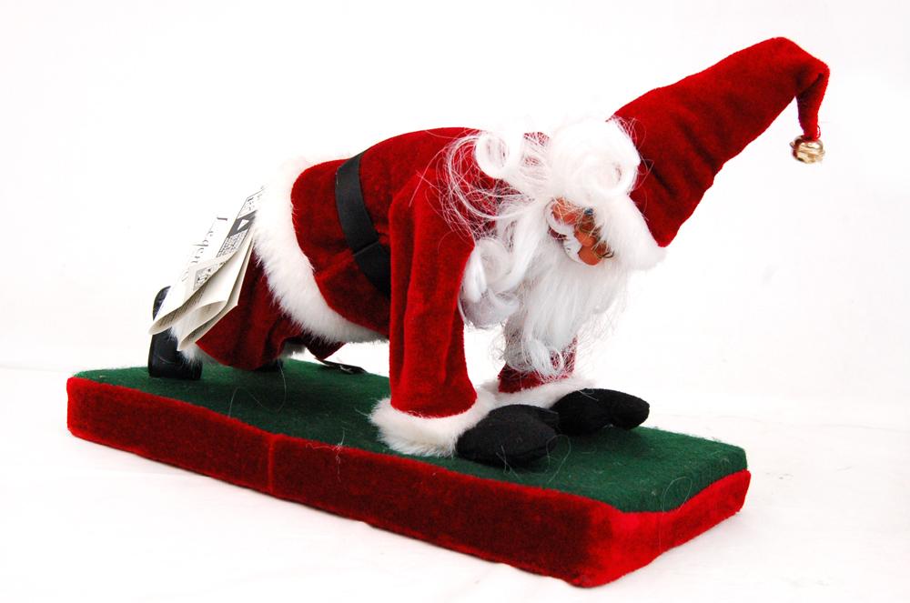 Image 1 of 5. Christmas - Funny Santa Does Push Ups ...