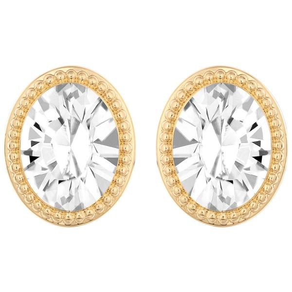 Image 1 Of 2 New Swarovski Angelic Earrings Crystals Oval Stud