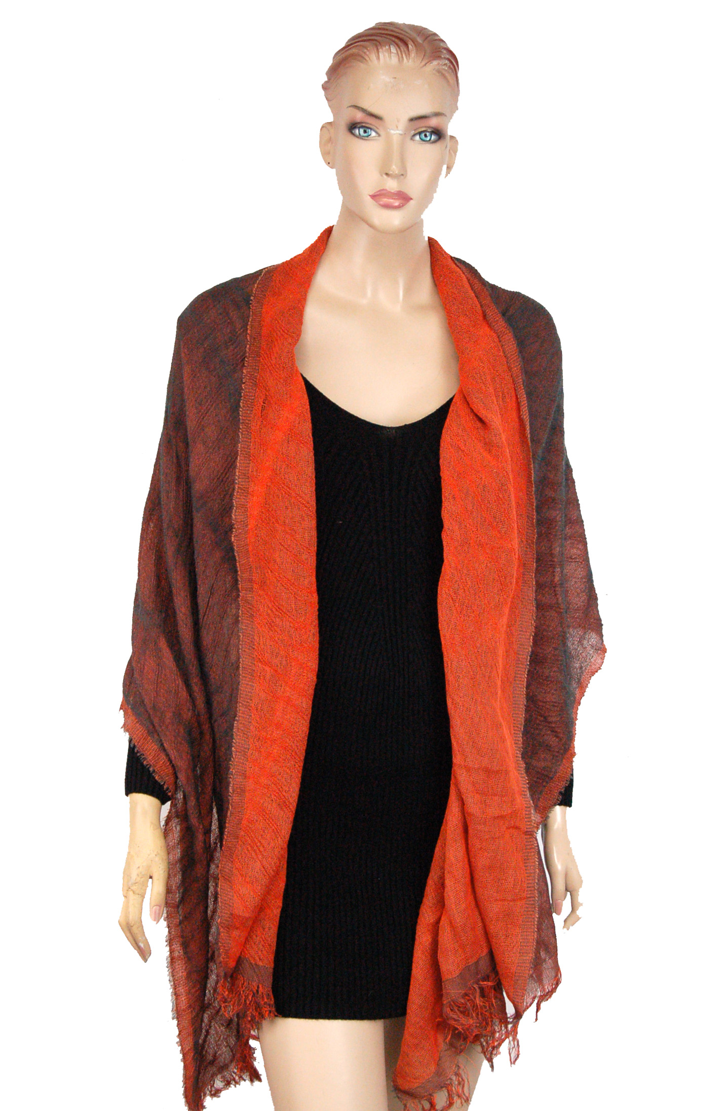 Womens Designer Two Tone Reversible Scarf Shawl Property Room