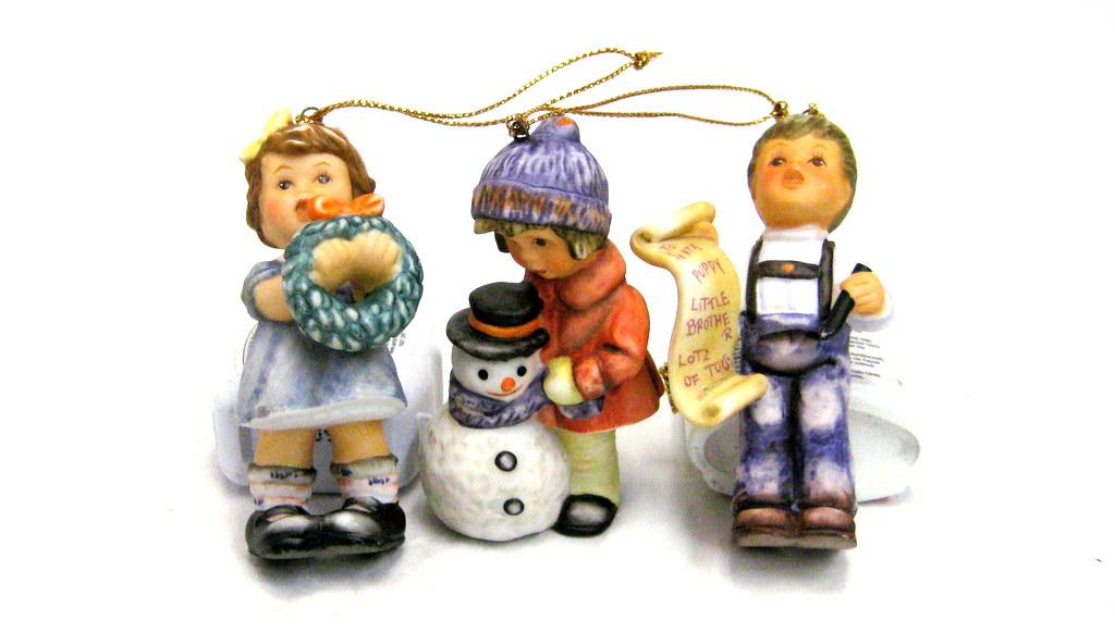 Hummel Christmas Ornaments.Set Of 3 Authentic Berta Hummel Christmas Ornaments