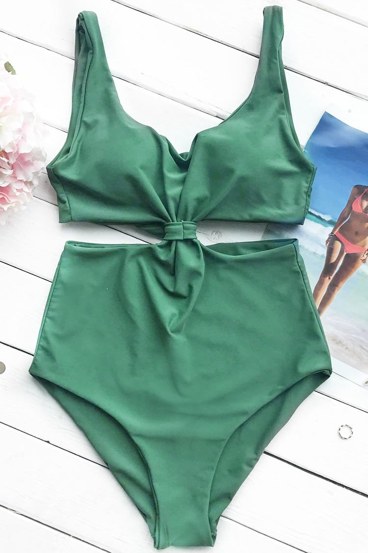 8deb05831a0b0 Cupshe Come With Me One-Piece Swimsuit Green L | Property Room