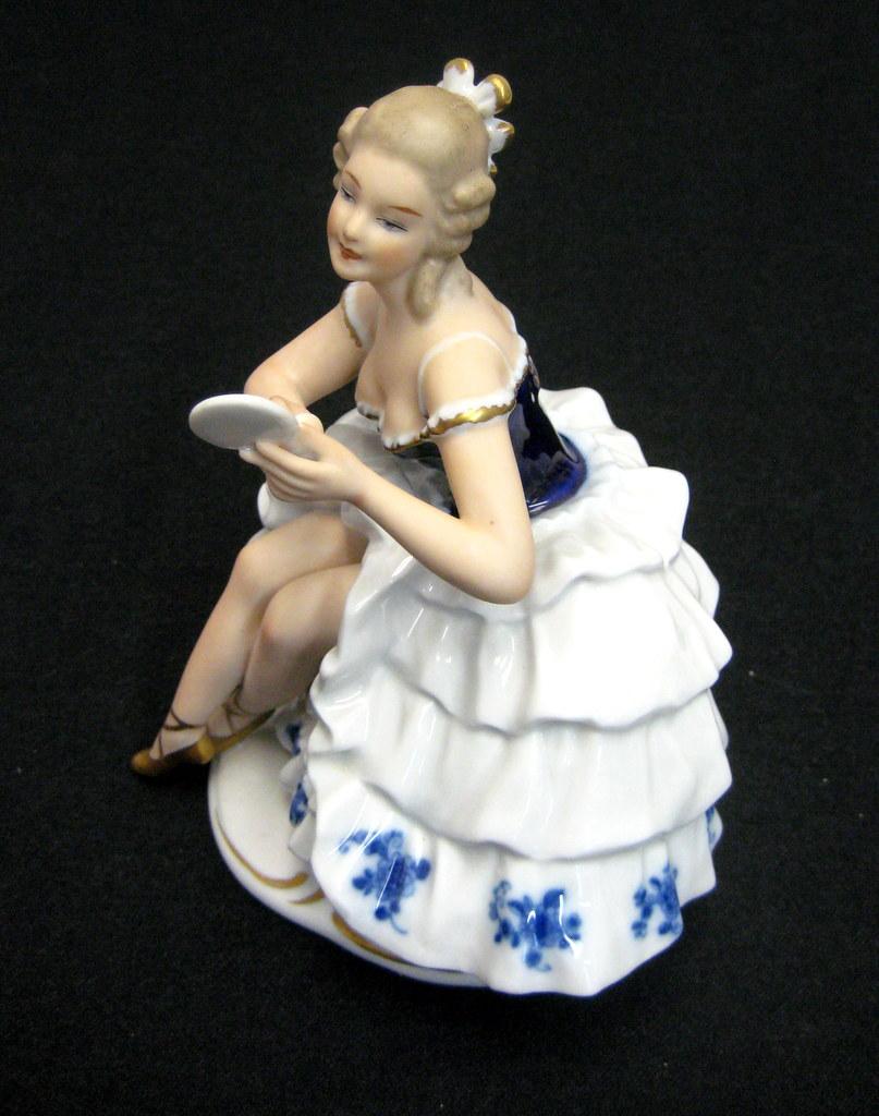 Vintage Wallendorf Porcelain Sitting Ballerina Figurine made