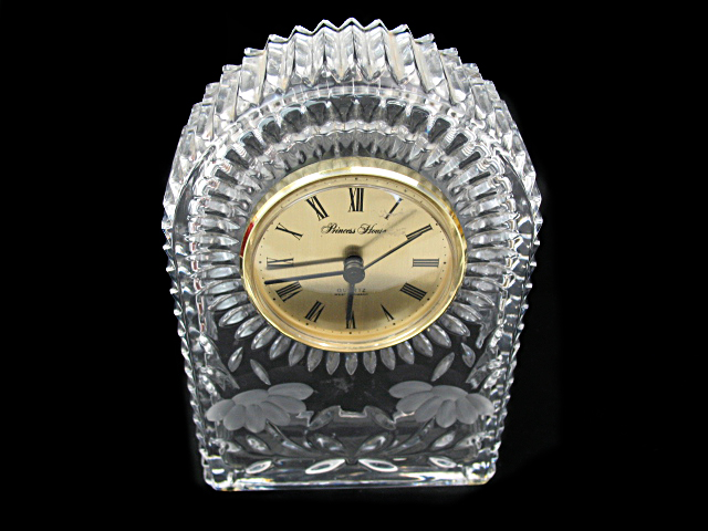 Princess House Crystal Clock C 1970s Property Room