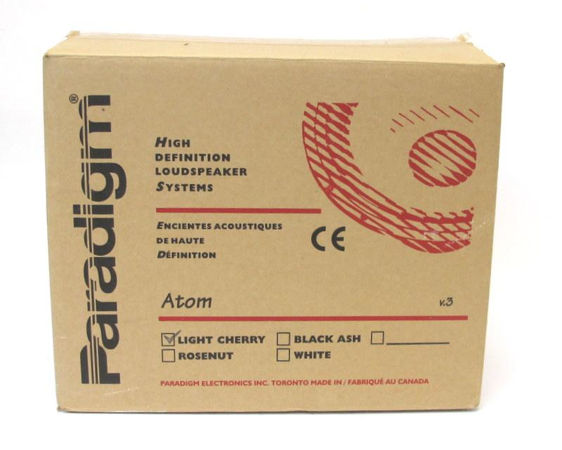 PARADIGM ATOM V3 High Definition Loudspeaker System Bookshelf Speakers