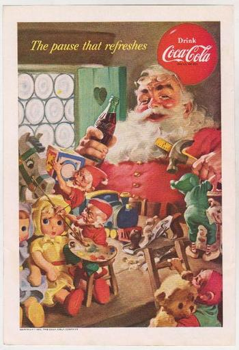 1953 Coca-Cola Santa Claus 7x10 Advertisement - RARE