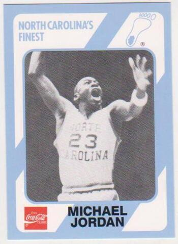 Michael Jordan 1989 North Carolina #65 College Card