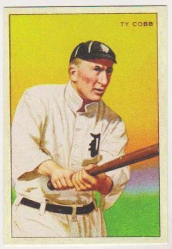 1912 T-227 Ty Cobb w/ Miners Extra Tobacco Back Reprint Card