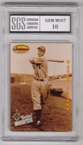 Graded Gem Mint 10 - Ted Williams 1994 Ted Williams Company #143 - HOF'er