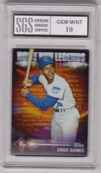 Graded Gem Mint 10 - Ernie Banks 2012 Topps Home Run Legends #HRL-7 Card