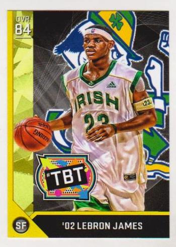 Lebron James St. Vincent - St. Mary High School TBT '02 Custom ACEO Card