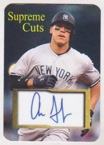 #43/50 Produced - Aaron Judge Facsimile Autograph Supreme Cuts #AJ3 Card - Scarce!