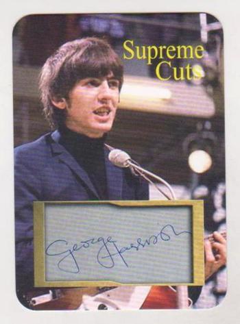 #2/50 Produced - George Harrison Facsimile Autograph Supreme Cuts Die Cut Card - The Beatles