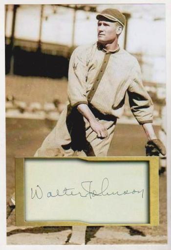 Walter Johnson 4x6 Photo w/ Facsimile Signature - Nice For Framing!