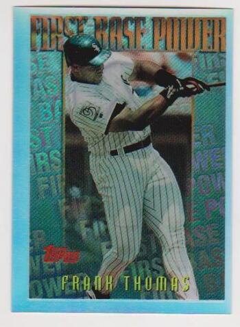 REFRACTOR - Frank Thomas 1996 Topps Mystery Finest #M21 - Tough Pull From Packs