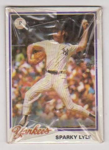 Sealed 1978 Topps Baseball New York Yankees Burger King Pack w/ Sparky Lyle On Top