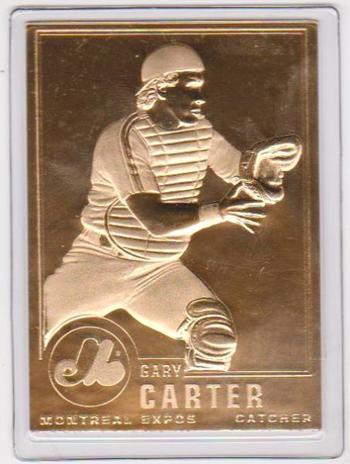 22kt Gold - GARY CARTER 1996 Danbury Mint Gold Card - HOF'er