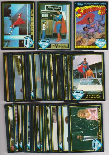 1983 Topps Superman III Complete 99 Card Set - Christopher Reeve, Richard Pryor