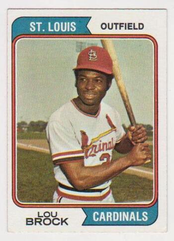 1974 Topps Lou Brock #60 Card - HOF'er