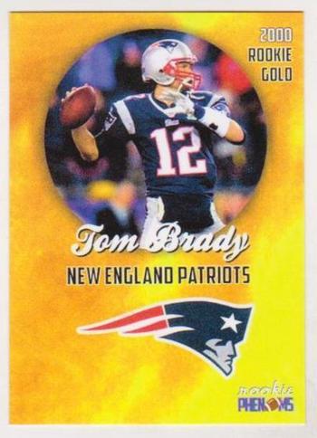 2000 Rookie Phenoms Tom Brady Rookie Gold Custom ACEO Card
