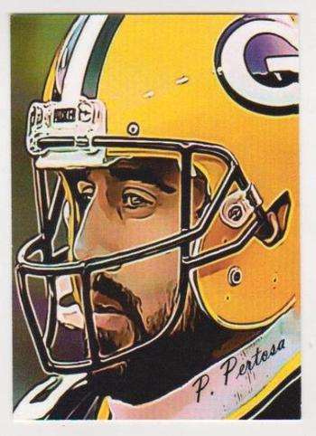 #14/25 Produced - Aaron Rodgers Signed By Artist ACEO Art Card