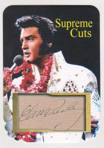 #26/75 Produced - Elvis Presley Facsimile Autograph Supreme Cuts Special Die Cut Card - Scarce!