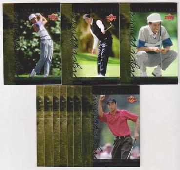 10 Different Tiger Woods 2001 Upper Deck Tiger's Tales Insert Cards