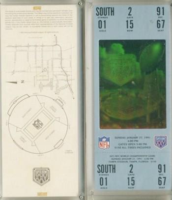 NFL Licensed Superbowl XXV Commemorative Ticket in Screwdown - Nice Item