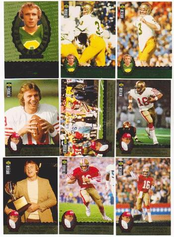 1995 Upper Deck Collector's Choice Joe Montana Trilogy 9 Card Insert Set