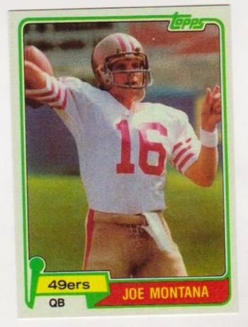 1981 Topps Joe Montana #216 Rookie Card Reprint