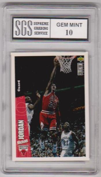 Graded Gem Mint 10 - Michael Jordan - 1996-97 UD Collectors Choice #23 Card