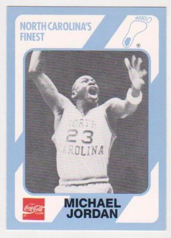 Michael Jordan 1989 North Carolina #65 College Card