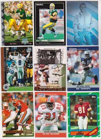 Football Card Collection 1986-1998 w/ Brett Favre, Joe Montana + More