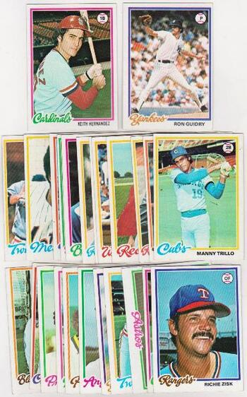 25 Different 1978 Topps Baseball Cards - Keith Hernandez + More
