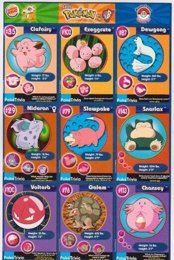 1999 Pokemon Master Trainer Collector Set Uncut 9 Card Sheet #16