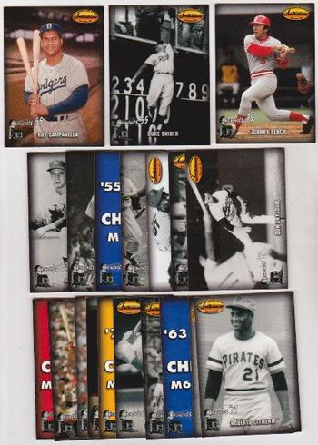 1993 Ted Williams Co. Memories 20 Card Insert Set - Clemente, Campanella + More