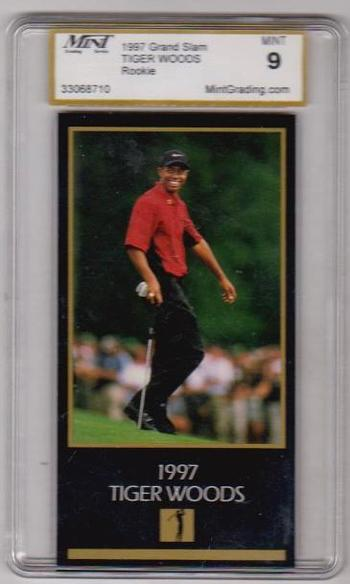 Rookie Graded Mint 9 - Tiger Woods 1997 Grand Slam Ventures Card