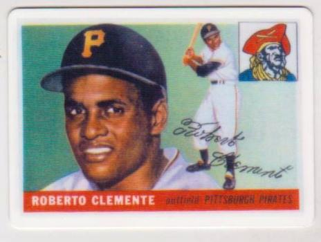 1955 Topps Roberto Clemente #164 Rookie Porcelain Replica Card