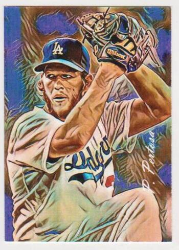 #4/25 Produced - Clayton Kershaw Signed By Artist Giclee Art #1 Card