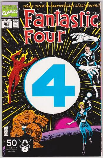 1991 Marvel Comics Fantastic Four #358 Issue