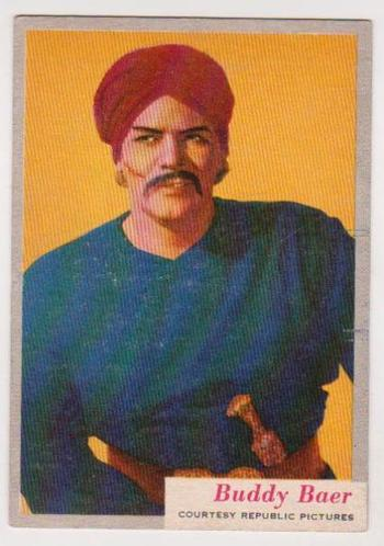1953 Topps Who-z-at Star Buddy Baer #16 Card